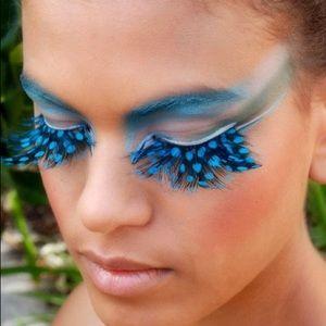 Blue feather eyelashes custome sexylashes